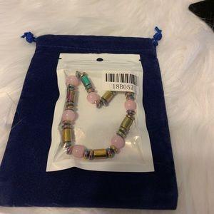 Pink quartz Hematite Bracelet